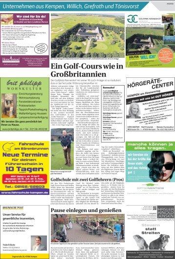 Unternehmen aus Kempen, Willich Grefrath und Tönisvorst