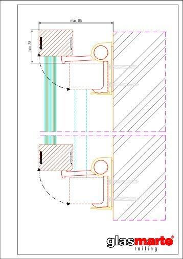 GM WINDOORAIL Profil eckig ausgeschwenkt - Detailzeichnung