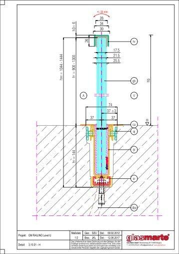 GM RAILING Level U - Detailzeichnung
