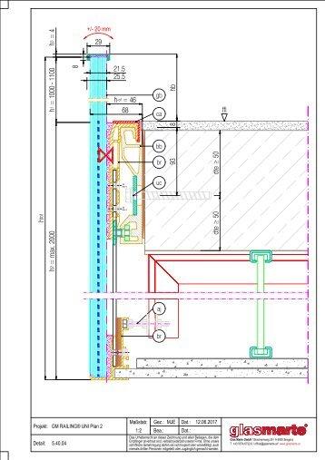 GM RAILING Plan 2 - Detailzeichnung