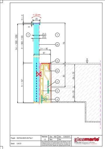 GM RAILING Plan - Detailzeichnung