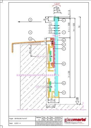 GM RAILING Front AIT - Detailzeichnung