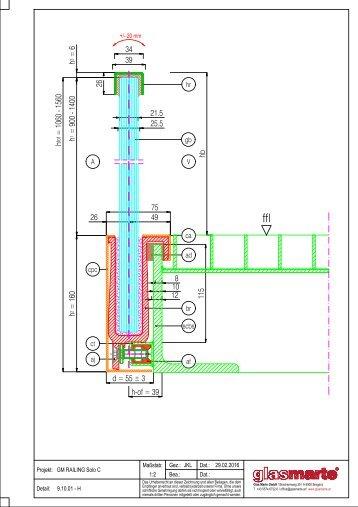 GM RAILING SOLO C 20/24 - Detailzeichnung