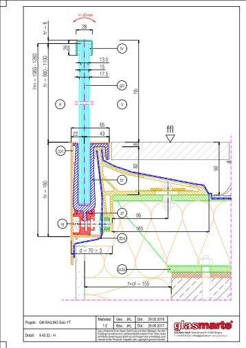 GM RAILING SOLO YT 16 - Detailzeichnung