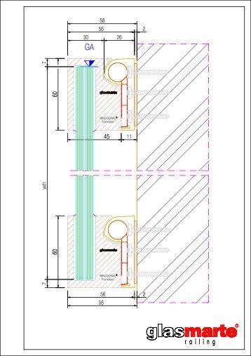 GM WINDOORAIL Frameless - Detailzeichnung