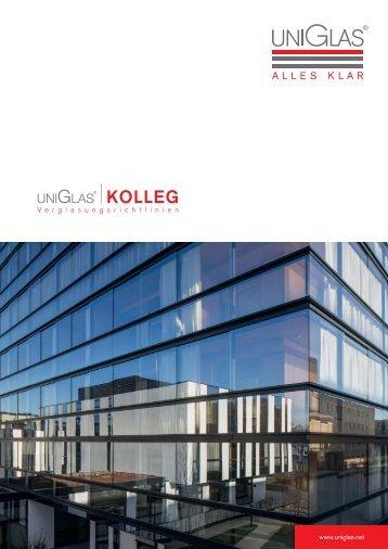 Verglasungsrichtlinien Glas Marte UNIGLAS - Infofolder