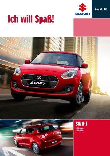 Suzuki SWIFT Fahrzeugprospekt