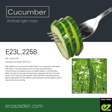 Leaflet Cucumber E23L.2258