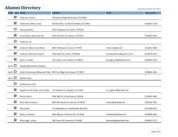 Alumni Directory