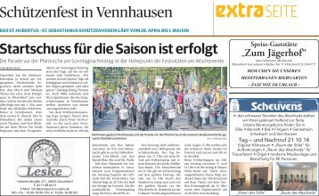 Schützenfest in Vennhausen