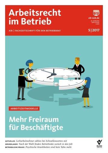 Leseprobe Arbeitsrecht im Betrieb 05_2017