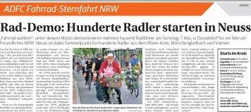 ADFC Fahrrad-Sternfahrt NRW