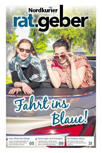 "Nordkurier Ratgeber ""Fahrt ins Blaue"""