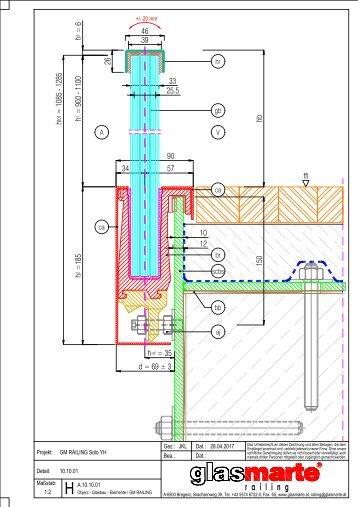 GM RAILING Solo YH - Detailzeichnung