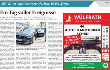 46. Auto- und Motorradschau in Wülfrath