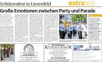 Schützenfest in Lierenfeld