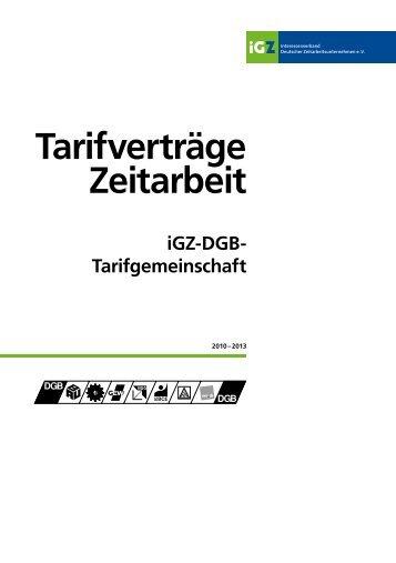 Tarifverträge 2010-2013