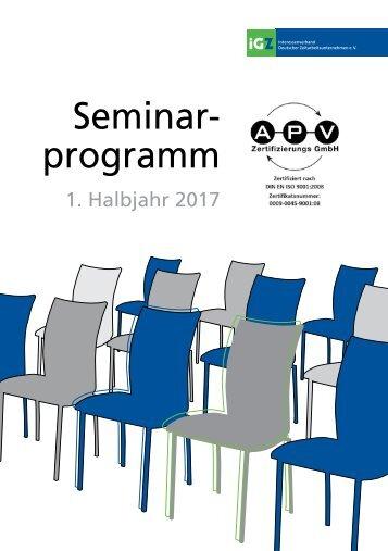 iGZ-Seminarprogramm 01-2017