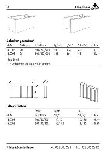 schalungsstein magazine. Black Bedroom Furniture Sets. Home Design Ideas