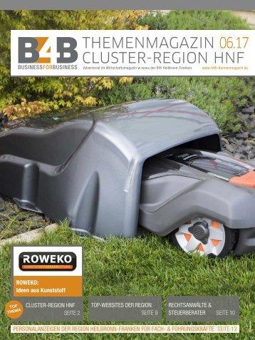 CLUSTER-REGION HEILBRONN-FRANKEN | B4B Themenmagazin 06.2017