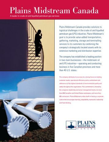 Plains Midstream Canada: Corporate profile (PDF)