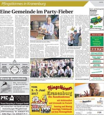 Pfingstkirmes in Kranenburg