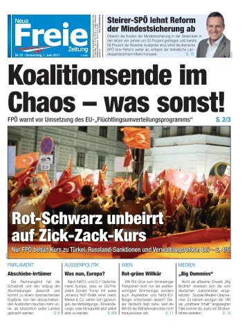 Koalitionsende im Chaos - was sonst!