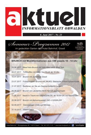Aktuell Obwalden 23-2017