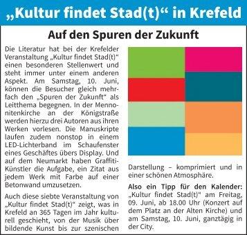 """""""Kultur findet Stadt(t)"""" in Krefeld"""