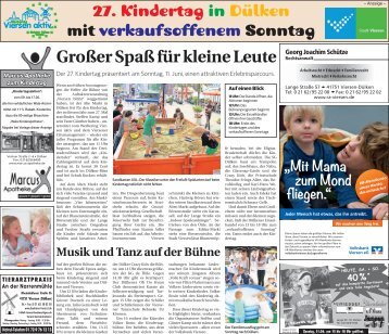 27. Kindertag in Dülken