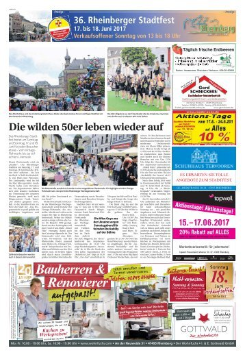 36. Rheinberger Stadtfest