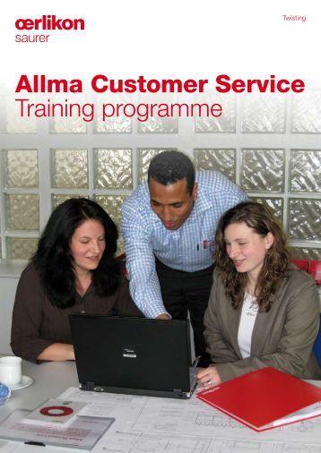 Allma Customer Service Training programme - Oerlikon Saurer ...