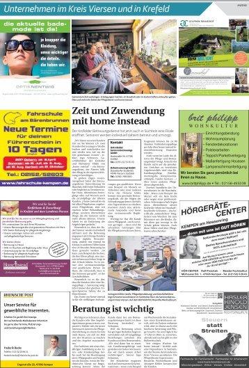 Unternehmen im Kreis Viersen und in Krefeld