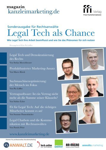 "eMagazin kanzleimarketing.de ""Legal Tech als Chance"""