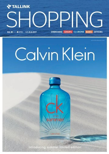 Riga-Stockholm July-August 2017 Tallink Shopping catalogue – full verison