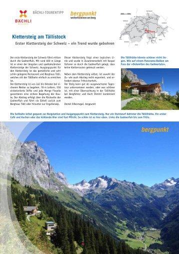 Tourentipp 09.2016 Klettersteig am Tällistock