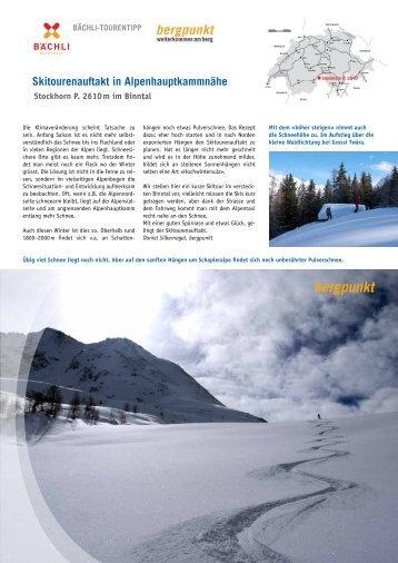 Tourentipp 12.2016 Skitourenauftakt