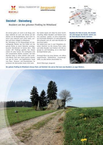 Tourentipp 05.2017 Steinhof - Steineberg