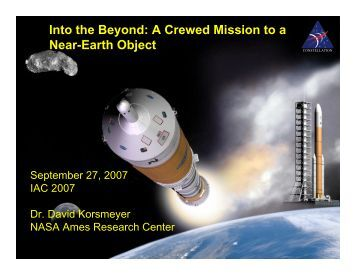 Into the Beyond: A Crewed Mission to a Near-Earth Object - NASA