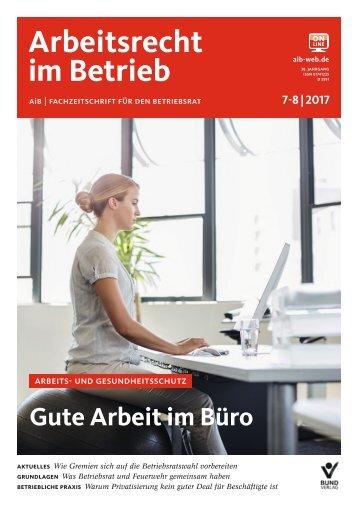 Leseprobe Arbeitsrecht im Betrieb 7-8_2017