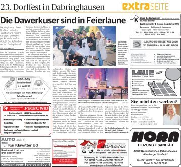 23. Dorffest in Dabringhausen
