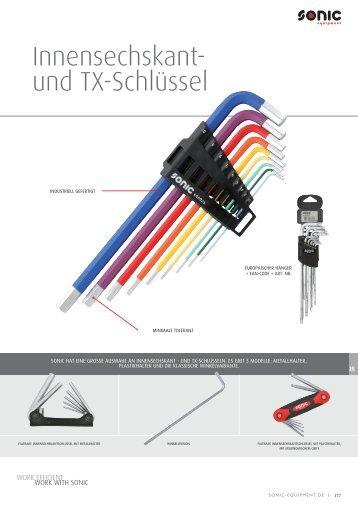 Innensechskant- und TX-Schlüssel