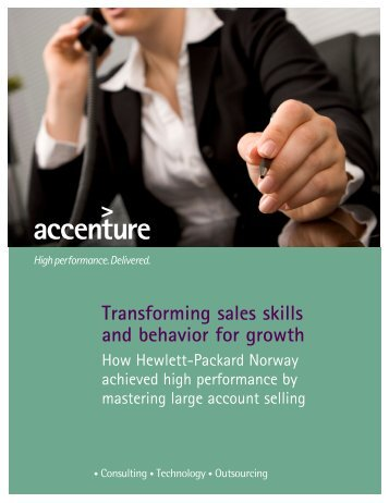 Transforming sales skills and behavior for growth