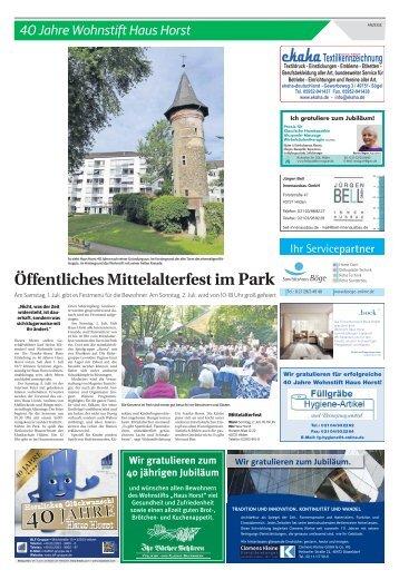40 Jahre Wohnstift Haus Horst