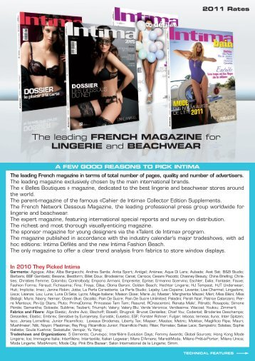 The leading FRENCH MAGAZINE for LINGERIE ... - network dessous