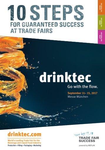 drinktec 2017 // 10 Steps for guaranteed success at trade fairs
