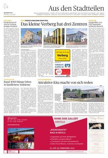Stadtteilserie - Fünf Dinge, die Sie über Verberg wissen sollten  -ET 21.07.2017-