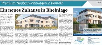 Premium-Neubauwohnungen in Benrath  -ET 29.07.2017-