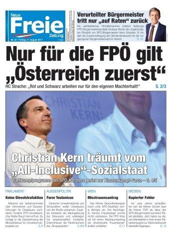 """Nur für die FPÖ gilt """"Österreich zuerst"""""""