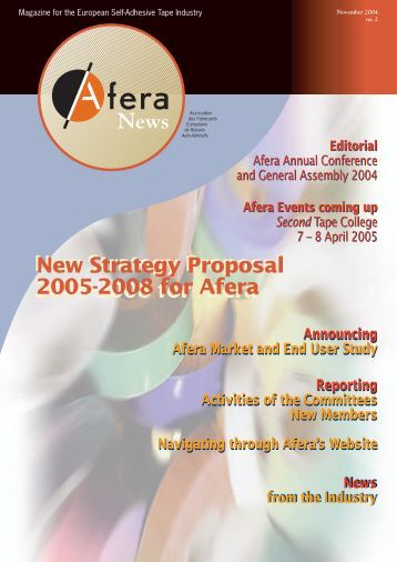 new strategy proposal 2005-2008 for afera